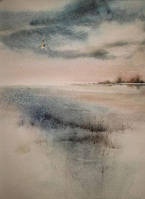 Laguna 2 acquerello cm 47 x 43