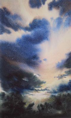 Nuvole 1 acquerello cm 58 x 34