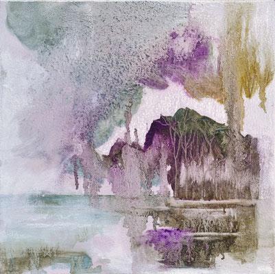 Paesaggi d'oriente olio su tela cm 30 x30 anno 2016