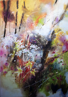 Qualche delizioso fiore olio su tela cm 100 x 70 (2)