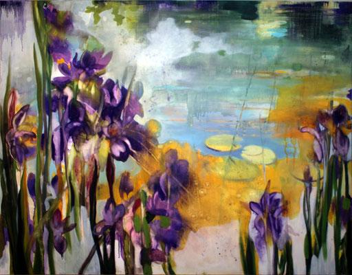 Iris olio su tela cm 120 x 150 (2)