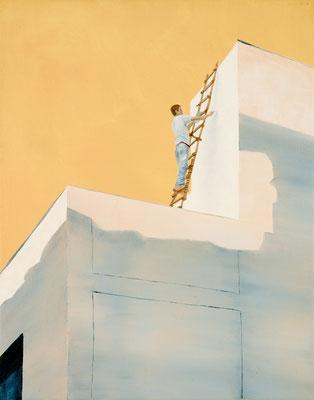 painter, oil on canvas, 30 x 24 cm