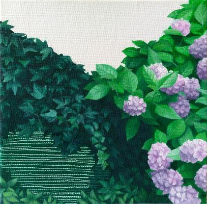 Dickicht #5, oil on canvas on cardboard, 10 x 10 cm