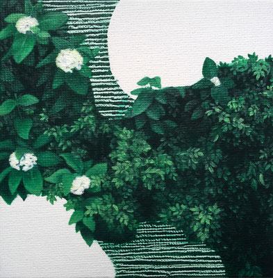 Dickicht #3, oil on canvas on cardboard, 10 x 10 cm