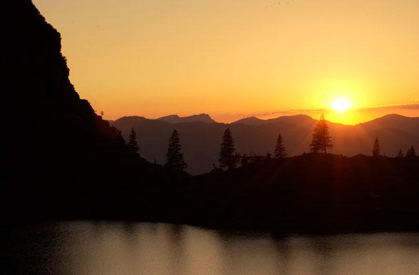 Sonnenuntergang am Gaisalpsee