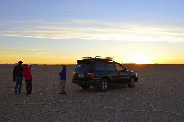 Saukalter Sonnenuntergang  in der Wüste