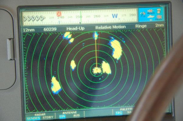 Gewitter sind auf dem Radar sehr gut auszumachen