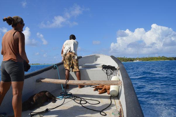 Fischen gehen mit den Locals ist interessant und sehr lehrreich....