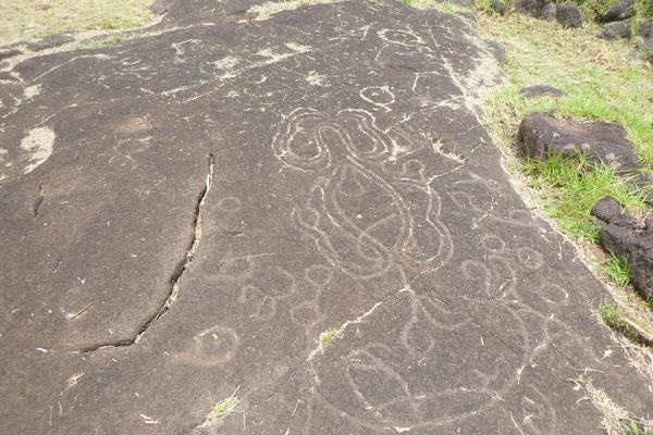 Inschriften und Skizzen  HANGA HO´ONU