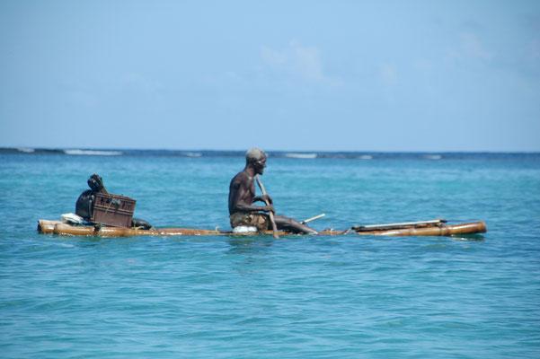 In der Lagune von Port Antonio leben verschiedene Buschmänner, wie sie sich nennen....