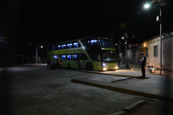 Im Nachtbus nach Iquique