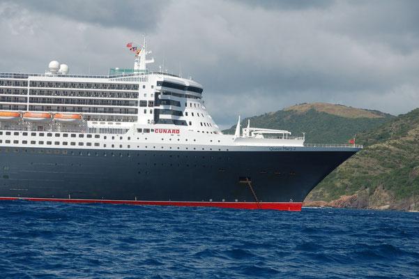 Titanic ? Nein, nur die Queen Mary II