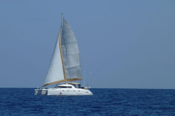 BONA segelt...... Blick von der ZWÖI.....Dankeschön !!