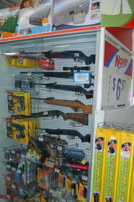 Waffen gibt es in Panama sogar im Baumarkt.
