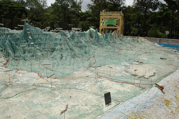 Maßstabgetreues Modell des Landes Guatemala
