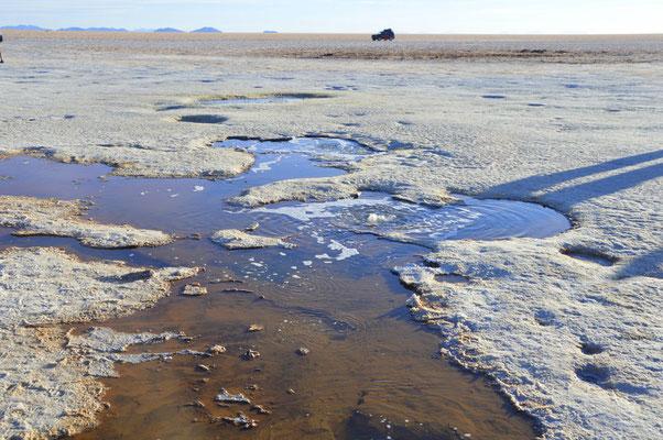 Salzkruste brüchig? Wasser von unten