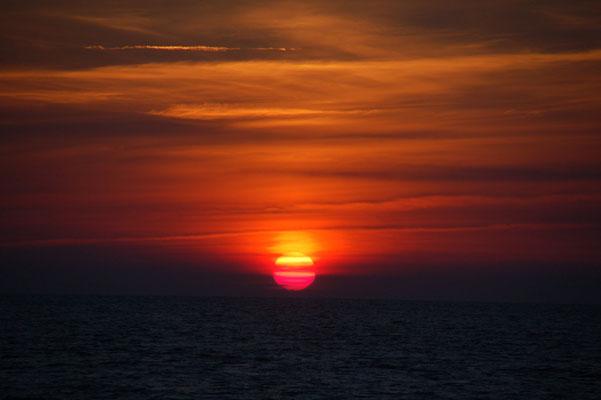 Die Sonnenuntergänge sind immer wieder etwas besonderes