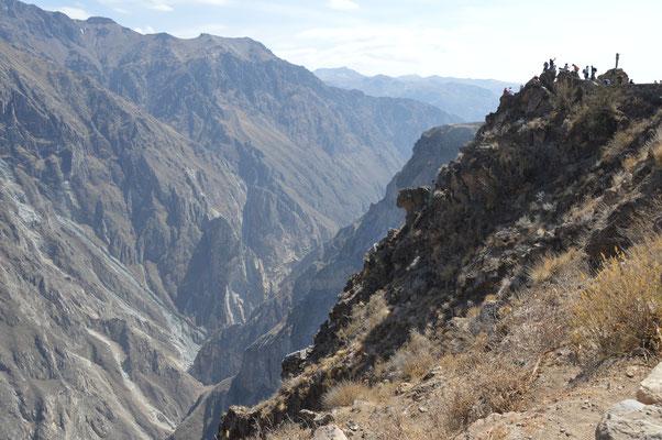 CANYON DE COLCA  Oben rechts: CRUZ DEL CONDOR