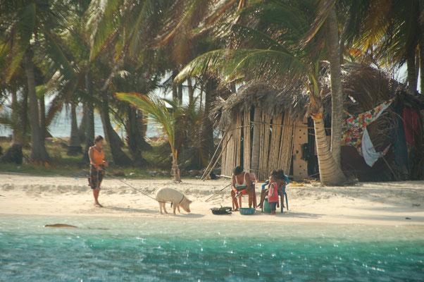Auf Cayo Chichime, der ersten der San Blas Inseln
