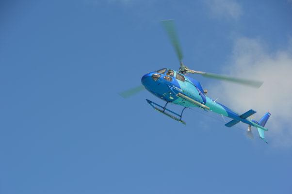 Helikopter landen auch in den Hotels