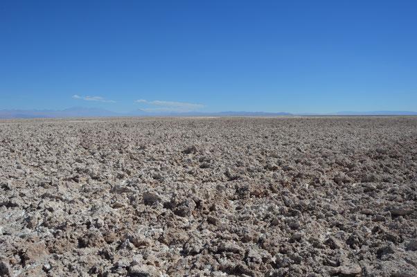 LAGUNA DE TEBENQUICHE  Die Salzkruste ist hier etwa 1450m dick