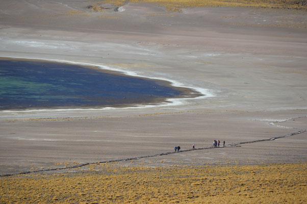 Die Lagune hat etwa 15km Durchmesser