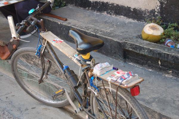 Lottoverkauf vom Bike