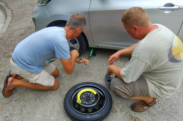 Reifen sind stark gefährdet, bei Schlaglöchern von 20cm