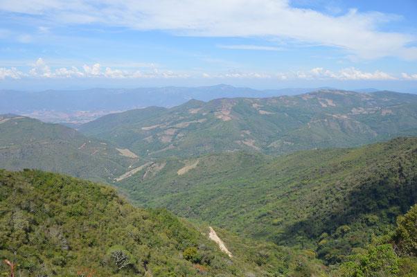 Ausblick aus etwa 2.500m Höhe