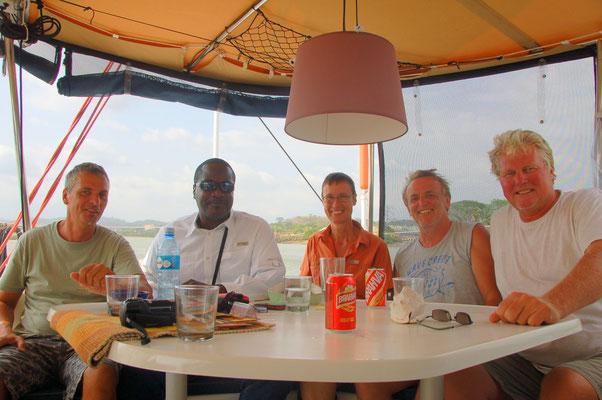 Nette Gesellshaft mit Advisor Robin, Irmina, Edgar und Udo