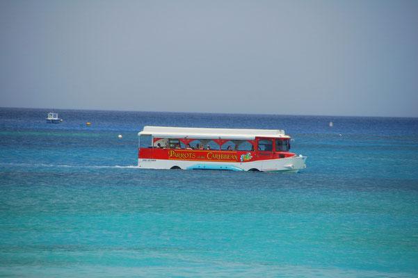 Und dann gibt´s noch den Bus, der gelegentlich den Inselstau umfährt.