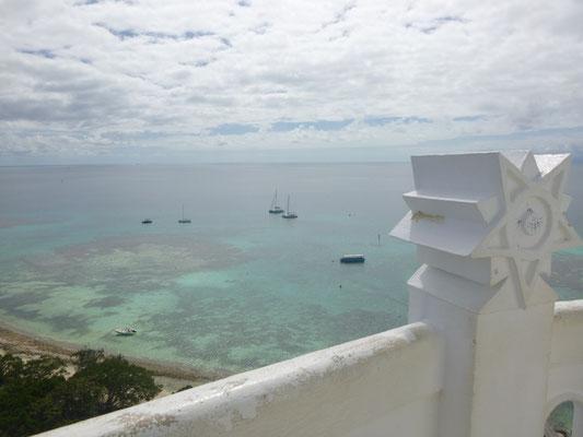 Ausblick aus 52m Höhe auf die Boote