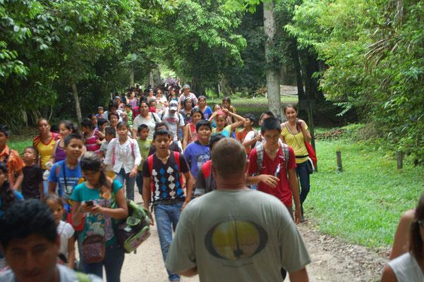 Wir verlassen den Park gegen 10:30, uns stöhmen wahre Hundertschaften von Touristen entgegen.