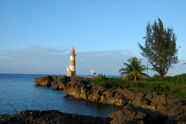 Leuchtturm vor der Einfahrt Port Antonio