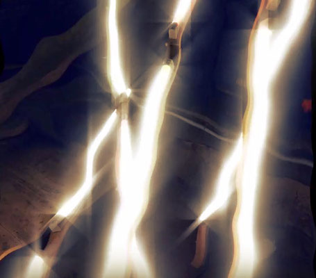 Pedro Meier – Nr. 22 – Lichtkunst – LightArt – Neon/LED – 200 Jahre altes Bauernhaus, Dachstock – Photo © Pedro Meier Multimedia Artist MoMA Bangkok – FLUXUS – DADA – SIKART Zürich – Gerhard Meier Weg Niederbipp Bern bei Solothurn Oberaargau