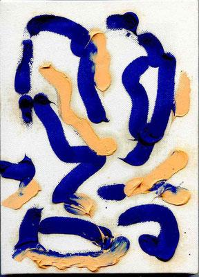 Pedro Meier Multimedia Artist – Zyklus von sieben Ölbildern – Nr. 1/7 – Öl auf Leinwand  – 24x18 cm – 2015 – Foto © Pedro Meier / ProLitteris