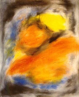 Galerie Kornhaus Herzogenbuchsee – Ausstellung Pedro Meier »Unrast zur Unzeit« 2001 – »Impression 28« – (nach dem Atelierbrand in Roggwil-Wynau, Gugelmann Areal) – VISARTE Schweiz Solothurn – Ateliers in Niederbipp & Thailand © Pedro Meier Multimedia Art