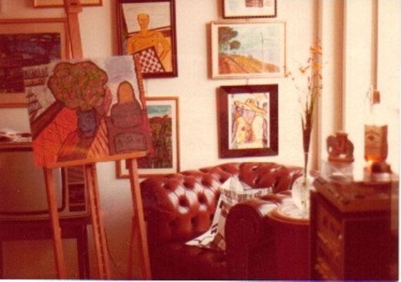 Pedro Meier – erstes Atelier 1979 in Zürich – Hohen Promenade, Wettingerwies (neben der Wohnung von Ernst Scheidegger Fotograf, Maler und Verleger, Film über Alberto Giacometti) – Foto © Pedro Meier / ProLitteris – Multimedia Artist Niederbipp – Bangkok