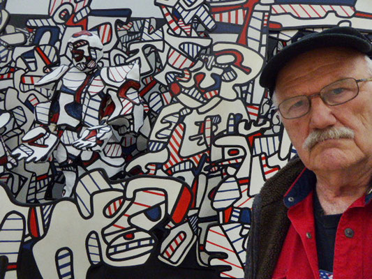 Pedro Meier PhotoArt – »Always Jean Dubuffet in my mind« Fondation Beyeler Basel Switzerland – »Selfie-Art-Project« – Photo 2015 © Pedro Meier Multimedia Artist / ProLitteris – Niederbipp – Bangkok