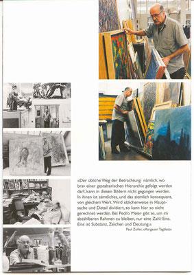 Galerie Kornhaus Herzogenbuchsee – Ausstellung Pedro Meier »Unrast zur Unzeit« 2001 – Impressionen 2 –(nach dem Atelierbrand in Roggwil-Wynau, Gugelmann Areal) – VISARTE Schweiz Solothurn – Ateliers in Niederbipp & Thailand © Pedro Meier Multimedia Artist
