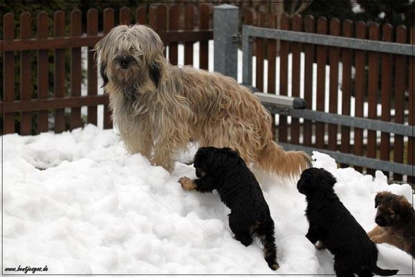 Mama Benni zeigt wie Schneeklettern geht