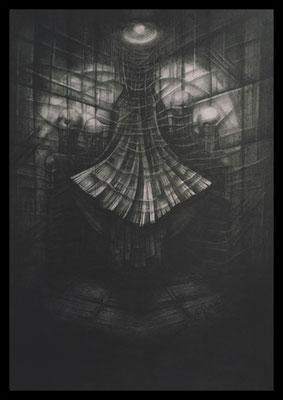 The Corner (Graphite, Kohle auf Papier)