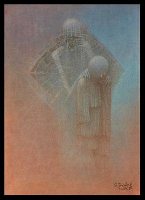 Left Behind (Mischtechnik - Pitt Monochrome, Polychromos, Kreide auf Papier)