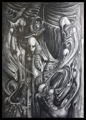 Der gefallene Engel (Bleistift,Graphit auf Papier)