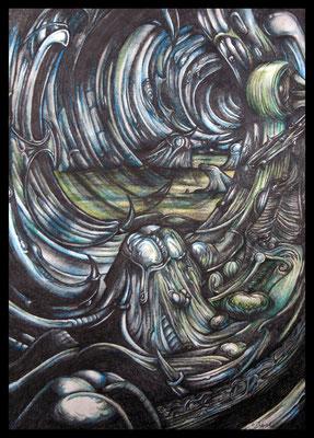 Ort#2 (Aquarellfarbstift auf Papier)