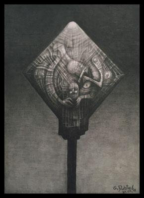 The Sinner (Bleistift,Graphit auf Papier)