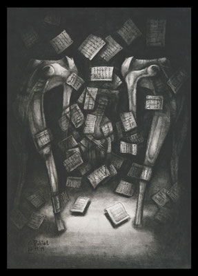A Ghost Story (Bleistift,Graphit,Kohle auf Papier)