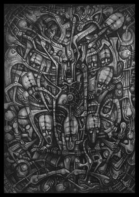 utopia banished (Bleistift,Graphit auf Papier)