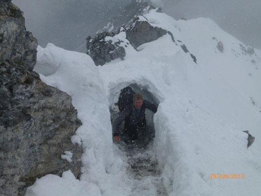 Schneewechte am Weg zur Payerhütte