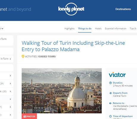 Articolo su Torino su http://www.lonelyplanet.com/